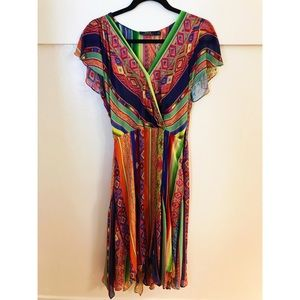 Ralph Lauren flutter sleeve midi dress